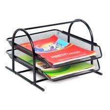 Paper Desk Organizer 2 Tier Mesh Document Paper Tray Desk Organizer At Rs 200