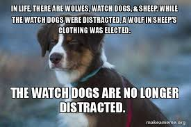 Watch Dogs Meme - in life there are wolves watch dogs sheep while the watch