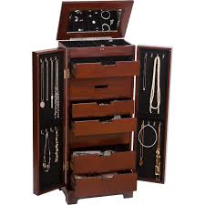 Jewelry Chest Armoire Jewelry Boxes U0026 Accessories Costco