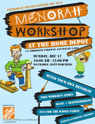 Home Depot Christmas Hours by Home Depot Menorah Workshop Chabad Jewish Center Of Novato