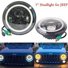 round led lights for jeep 2018 newest 97 15 jeep wrangler led headlights with angel eyes 7