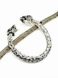 vintage bangle bracelet images Ethnic tribal vintage flexible adjustable dragon sterling silver jpg