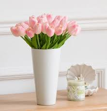 Artificial Flower Bouquets 2017 Umiwe Artificial Flowers Tulip With Leaves Flower Bouquets