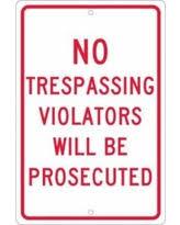 holiday sale no trespassing violators offered a shot metal sign