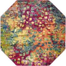 Colorful Area Rugs Round 7 U0027 And Larger Area Rugs Rugs The Home Depot