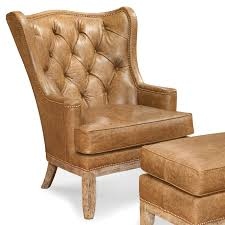 Leather Tufted Chair Fairfield Chairs Tufted Wing Chair With Nailhead Trim Ahfa