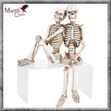 skeleton shelf sitter figurines ornaments loving remains