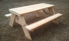 Plans For Wooden Picnic Tables by How To Build A 6 Foot Picnic Table Jays Custom Creations