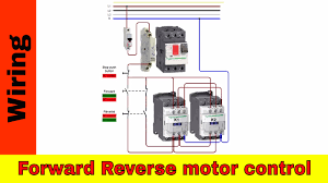 how to wire forward reverse motor control and power circuit youtube