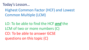 hcf and lcm by rhiannonwates teaching resources tes