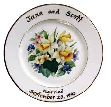 50th anniversary plates sheffield pottery birth wedding anniversary and family tree