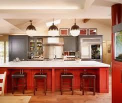 Red Kitchen White Cabinets Grey Red Kitchen Interiors Design