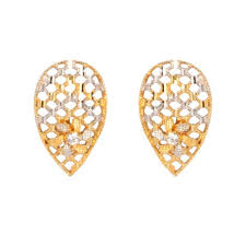 gold ear studs gold earrings karan kothari jewellers