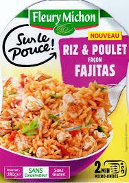 plat cuisiné fleury michon riz poulet façon fajitas jpg