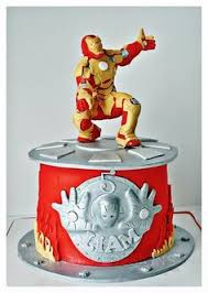 iron man birthday cake i made for my 3 year old grandson