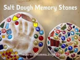 the jersey momma how to make salt dough memory stones kid