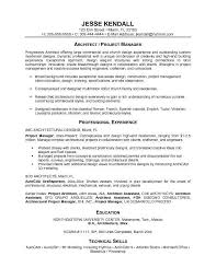 Manager Resume Objective Project Manager Resumes Examples Resume Example And Free Resume
