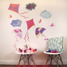 cloud wall stickers kites and clouds wall stickers