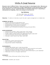 great resumes exles writing a resume venturecapitalupdate
