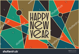 abstract vintage mid century new card stock vector 532662958