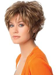 womans short hairstyle for thick brown hair women s hairstyles pleasure touch with short messy haircut for