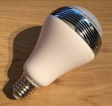 Bluetooth Light Bulb Speaker Review 1byone Bluetooth Led Light Bulb With Speaker Geek