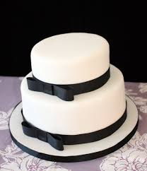 black and white wedding cakes black white wedding cake simple white 2 tier stacked wed flickr