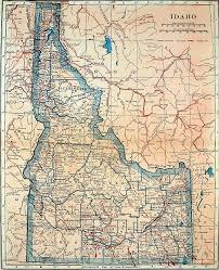 map of idaho map of idaho 1921 drawing by mountain dreams