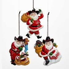 western santa ornaments furrypartners