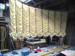 How To Make A Stage Curtain Austrian Curtain Shop Test Youtube