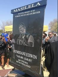 tombstone cost pics r160k cost of dumi masilela s tombstone leaves south