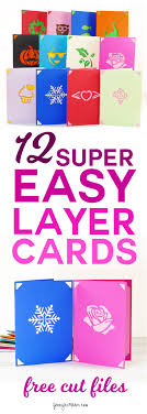 diy greeting card set fast easy layers maker