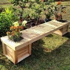 gardening bench planter benches foter