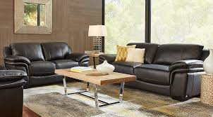 Leather Sofa In Living Room Beige Black Brown Living Room Furniture Ideas Decor