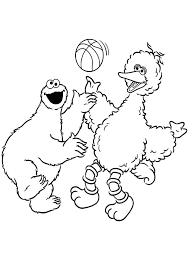 cookie monster coloring pages big bird coloringstar