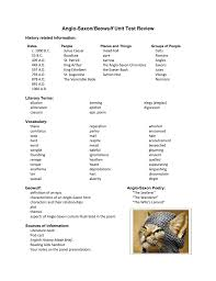 themes of beowulf poem anglo saxon beowulf unit test review