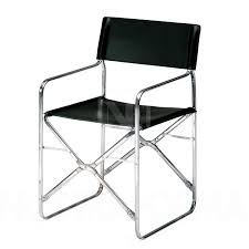 Folding Chair Leather Zanotta April Folding Chair With Leather Modern And Contemporary