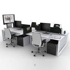 steelcase frameone loop bench desks office desks