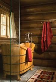 Log Cabin Bathroom Accessories by Love This Rustic Cabin Bathroom Make Mine Rustic Pinterest