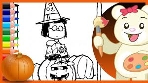 halloween charlie brown marcie peanuts holiday coloring pages