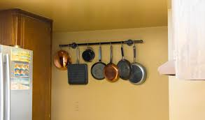 kitchen pot rack ideas diy pot rack with pipes from home depot hometalk