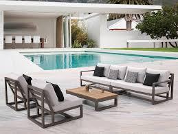 Copper Patio Table Babmar Modern Patio Furniture Contemporary Outdoor Throughout