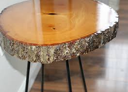 wood slice side table diy resin wood slice side table our crafty mom