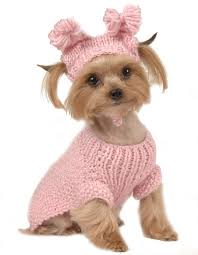 max u0027s closet pet dog clothing pink cable sweater w hat small dog