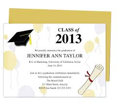 commencement announcements printable diy templates for grad announcements partytime