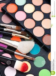 makeup pallet with makeup brushes stock photos image 21991763