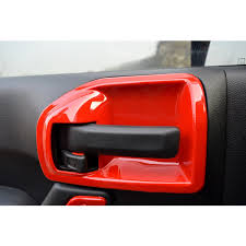 jeep red red door latch handle bowl trim cover for jeep wrangler jk 2011