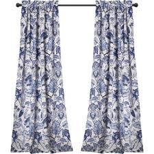 Blue Floral Curtains Blue Floral Curtains Drapes You Ll Wayfair