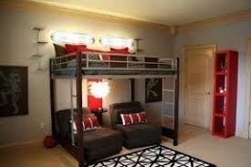 wood bunk bed with desk underneath foter