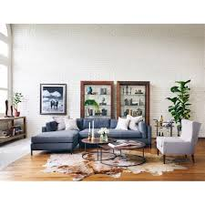 Modern Classic Living Room Diorama Modern Classic Charcoal Left Arm Chaise Sectional Sofa
